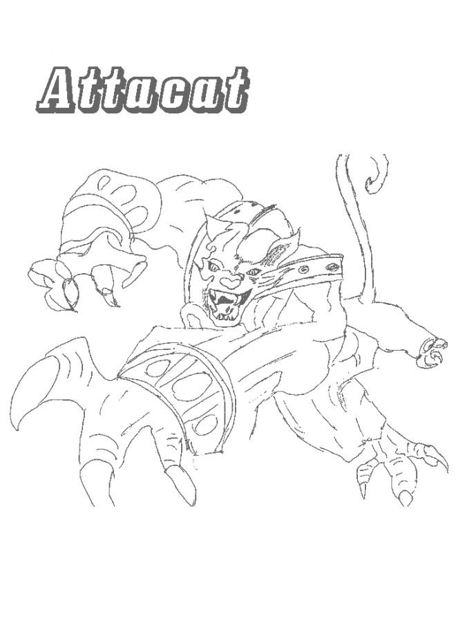 Coloriage et dessins gratuits Chaotic Attacat à imprimer