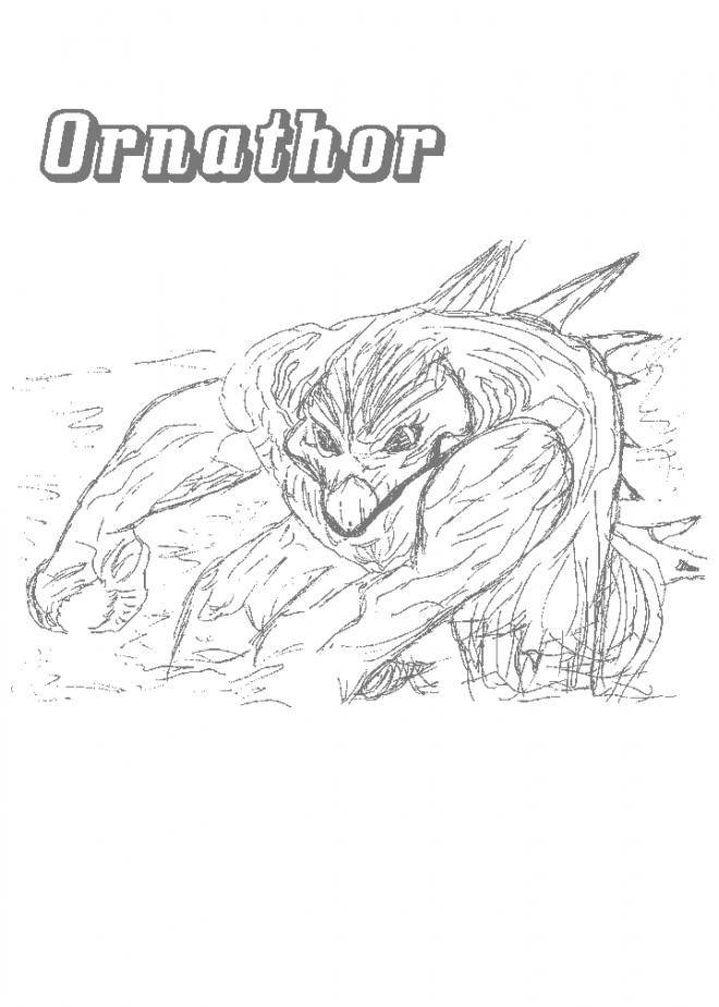 Coloriage et dessins gratuits Chaotic Ornathor à imprimer