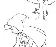 Coloriage dessin  Chaperon Rouge en ligne