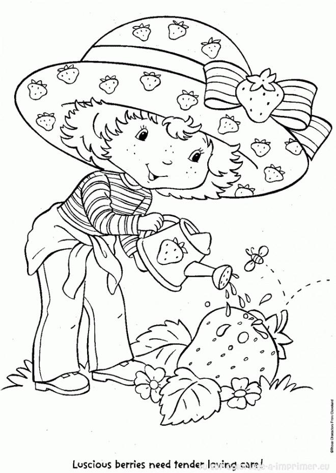 Coloriage et dessins gratuits Charlotte arose une fraise à imprimer