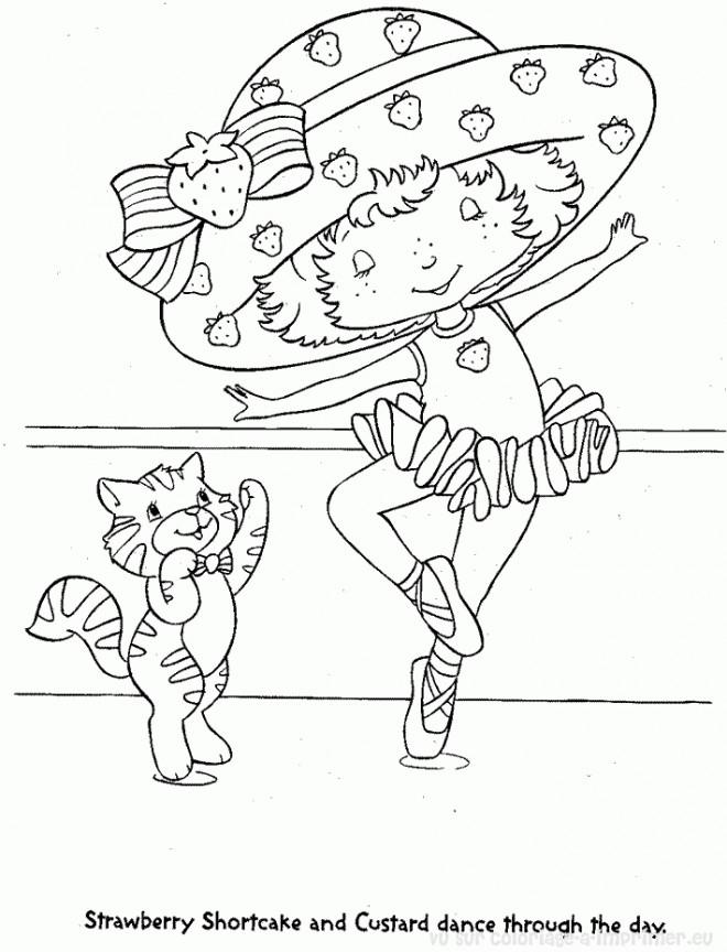 Coloriage et dessins gratuits Charlotte aux fraises danseuse à imprimer