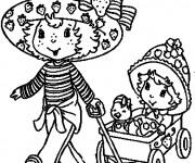 Coloriage et dessins gratuit Charlotte aux fraises dessin animé à imprimer