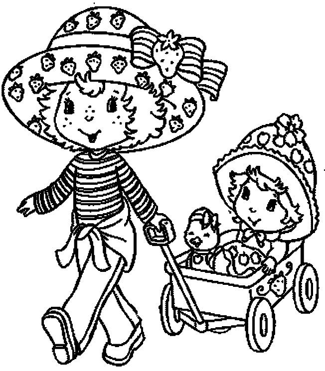 Coloriage et dessins gratuits Charlotte aux fraises dessin animé à imprimer