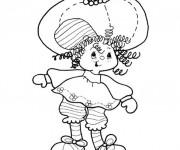 Coloriage et dessins gratuit Charlotte aux fraises facile à imprimer