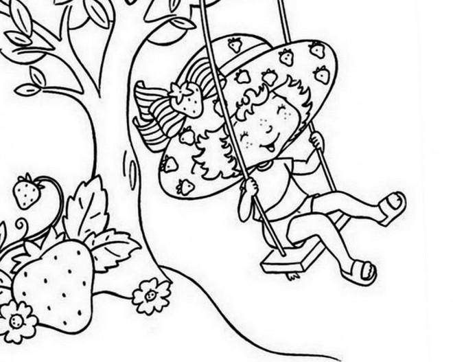 Coloriage et dessins gratuits Charlotte aux fraises joue dessin animé à imprimer