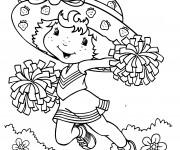 Coloriage Charlotte aux fraises supportrice