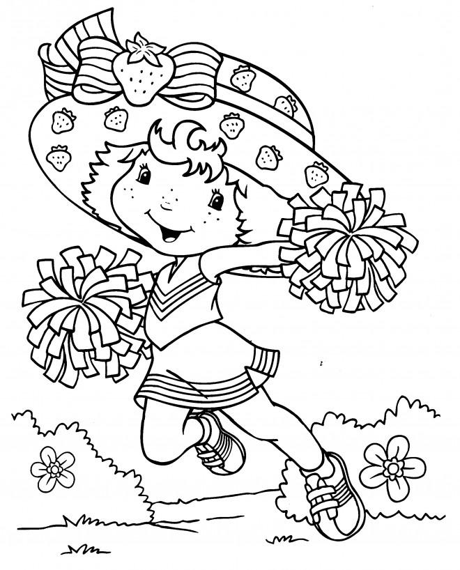 Coloriage et dessins gratuits Charlotte aux fraises supportrice à imprimer