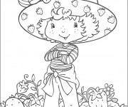 Coloriage et dessins gratuit Charlotte de fraise facile à imprimer