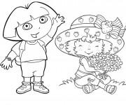 Coloriage et dessins gratuit Charlotte et Dora à imprimer