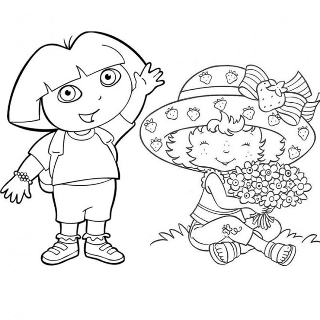 Coloriage et dessins gratuits Charlotte et Dora à imprimer
