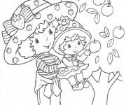 Coloriage et dessins gratuit Charlotte et fille près de l'arbre à imprimer