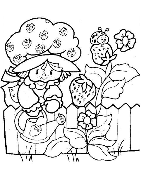 Coloriage et dessins gratuits Charlotte et fraises à imprimer
