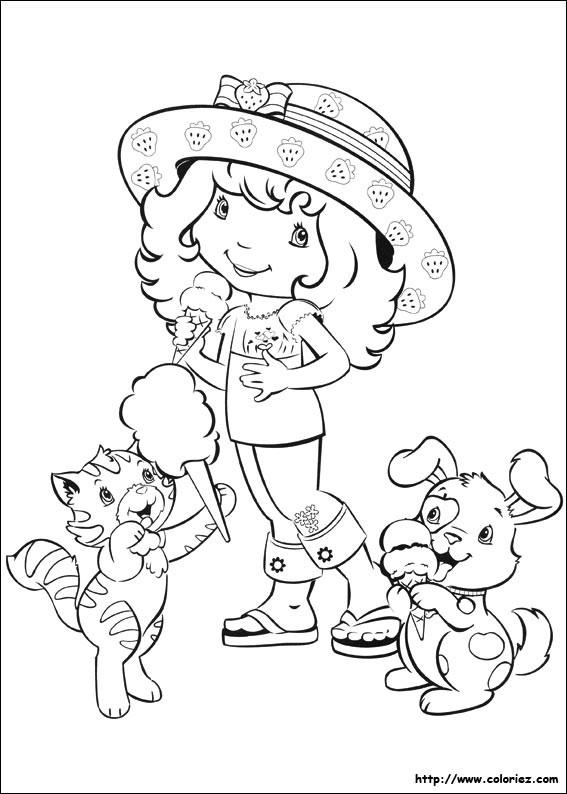Coloriage et dessins gratuits Charlotte et ses animeaux à imprimer