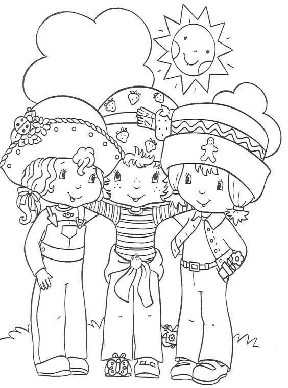 Coloriage et dessins gratuits Charlotte et ses copines en couleur à imprimer