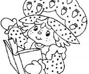 Coloriage et dessins gratuit Charlotte lit un livre en ligne à imprimer