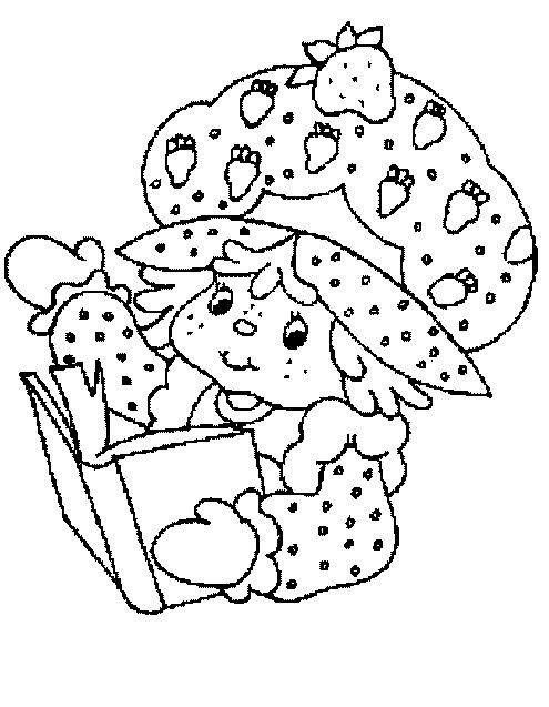 Coloriage et dessins gratuits Charlotte lit un livre en ligne à imprimer