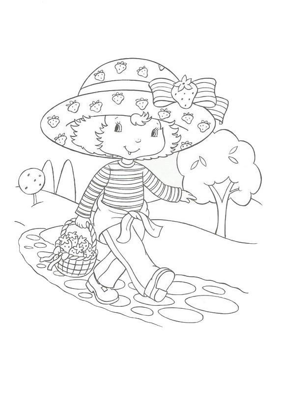 Coloriage et dessins gratuits Charlotte marche sur la rue pour enfant à imprimer