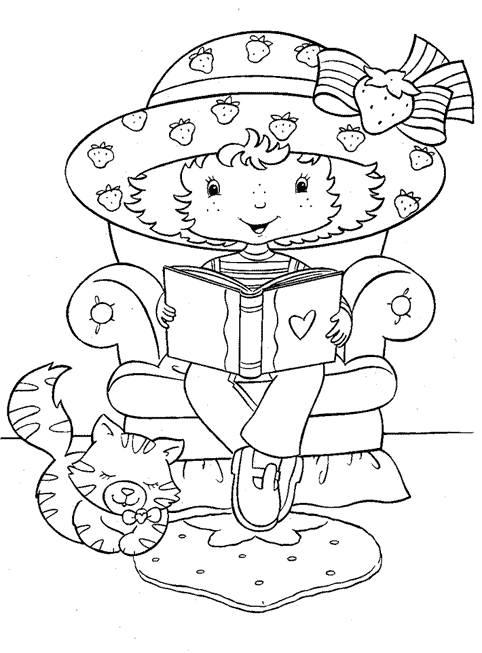 Coloriage et dessins gratuits Fraisinette lit un livre en ligne à imprimer