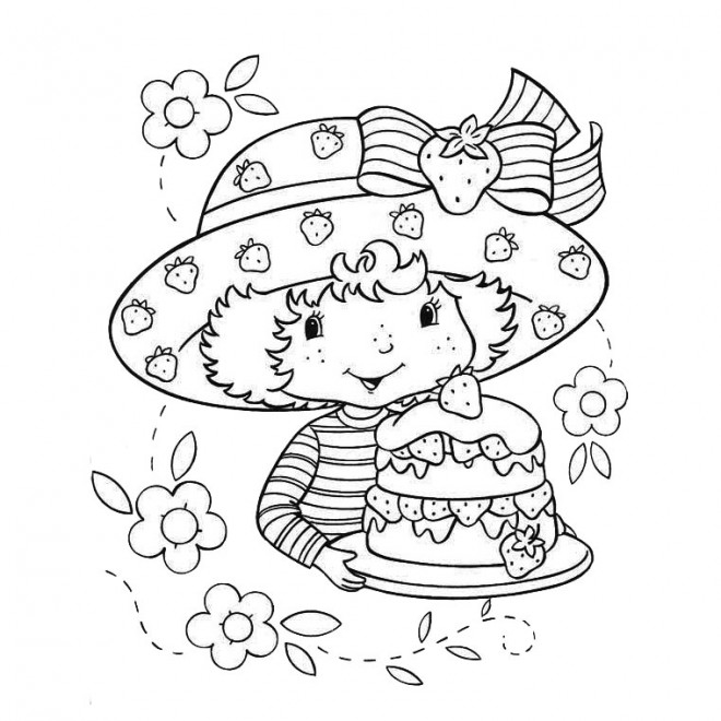 Coloriage et dessins gratuits Gâteau de Charlotte à imprimer
