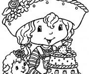 Coloriage et dessins gratuit Gâteau de charlotte en couleur à imprimer