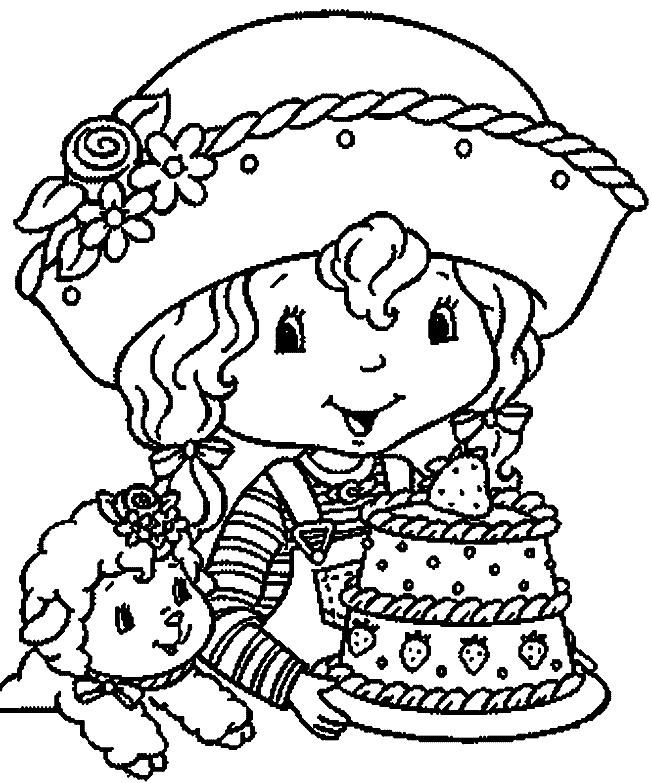 Coloriage et dessins gratuits Gâteau de charlotte en couleur à imprimer