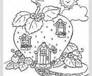 Coloriage et dessins gratuit Maison de charlotte aux fraises à imprimer