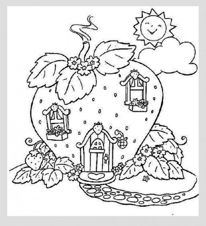Coloriage et dessins gratuits Maison de charlotte aux fraises à imprimer