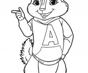 Coloriage Alvin Chipmunks à imprimer