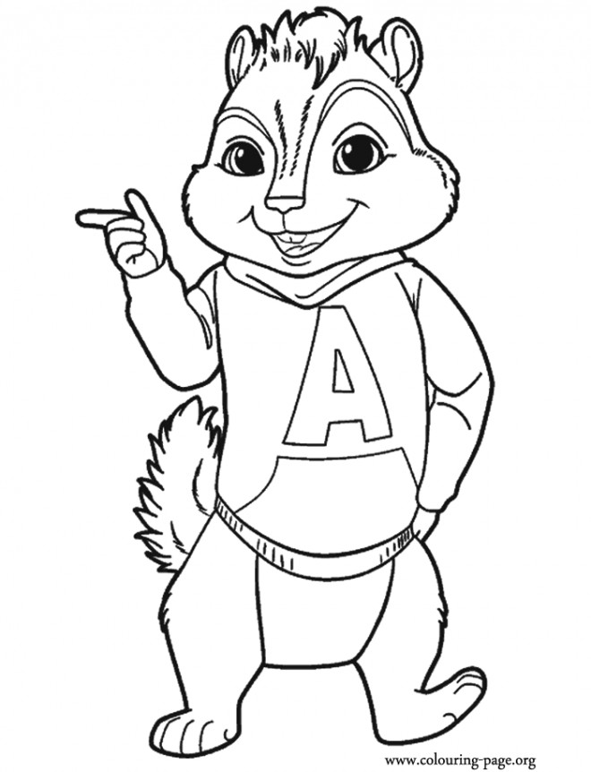 Coloriage Alvin Chipmunks A Imprimer Dessin Gratuit A Imprimer