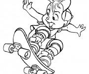 Coloriage Alvin et les chipmunks 1