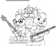 Coloriage et dessins gratuit Alvin et les Chipmunks 4 à imprimer