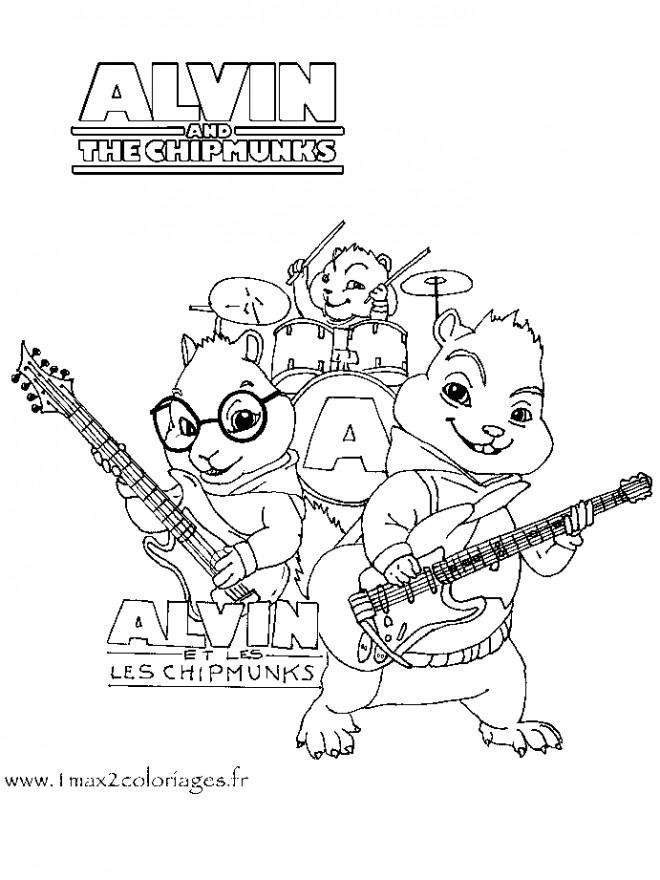 Coloriage et dessins gratuits Alvin et les Chipmunks 4 à imprimer