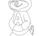 Coloriage et dessins gratuit Alvin et les Chipmunks dessin animé à imprimer