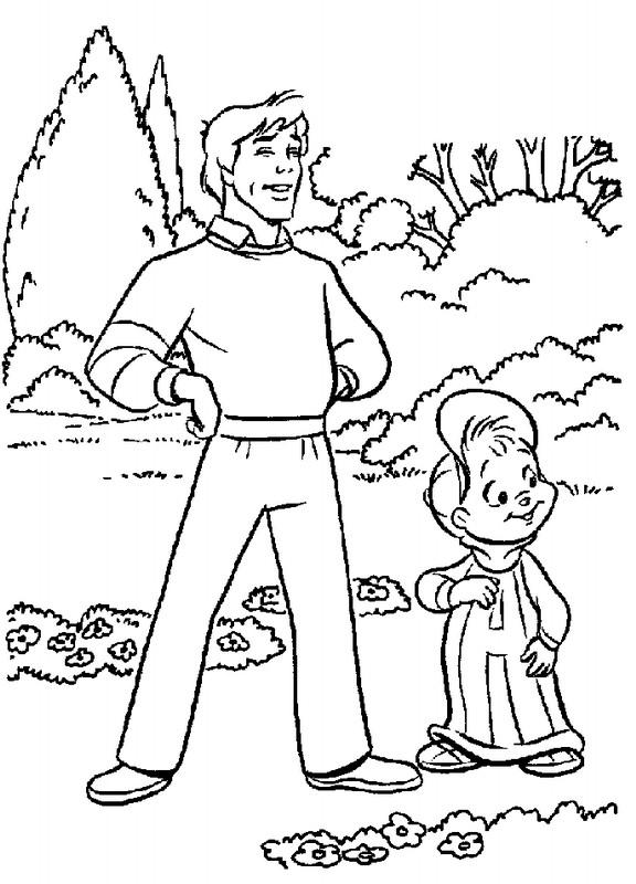 Coloriage et dessins gratuits Alvin et les Chipmunks en ligne à imprimer