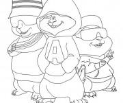 Coloriage Alvin et les Chipmunks gratuit