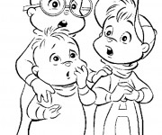Coloriage et dessins gratuit Alvin et les Chipmunks le film à imprimer