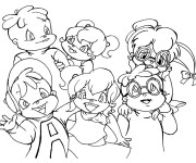 Coloriage Chipettes Chipmunks