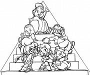 Coloriage et dessins gratuit Chipettes dessin animé à imprimer