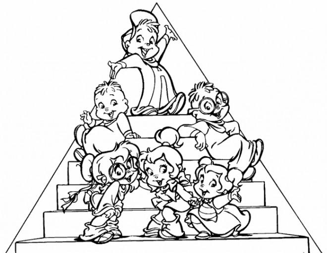 Coloriage et dessins gratuits Chipettes dessin animé à imprimer