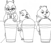 Coloriage Chipmunks 2