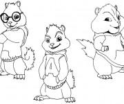 Coloriage Chipmunks