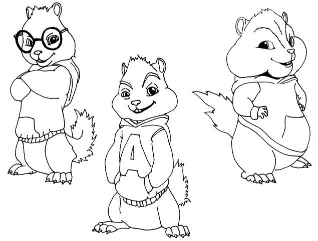 Coloriage et dessins gratuits Chipmunks à imprimer