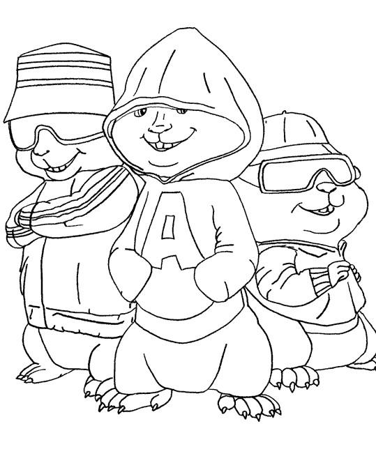 Coloriage Chipmunks 6 Gratuit A Imprimer En Ligne