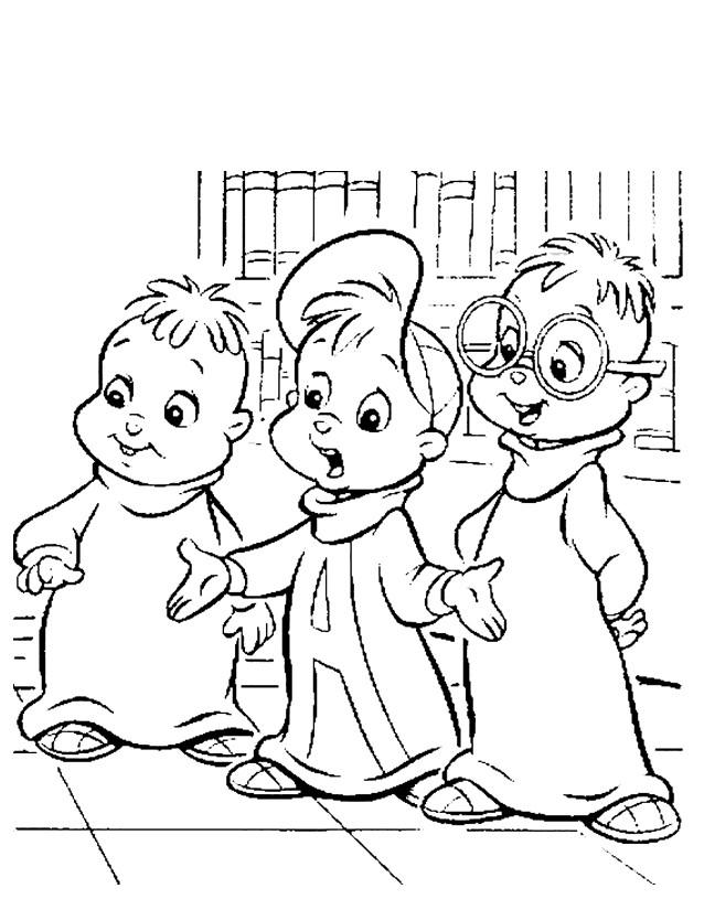 Coloriage chipmunks colorier dessin gratuit imprimer - Coloriage alvin et les chipmunks simon ...