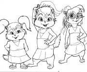 Coloriage Chipmunks en ligne