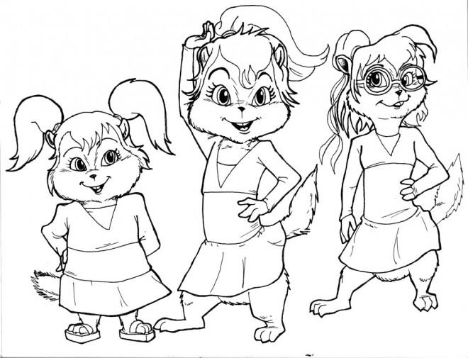 Coloriage et dessins gratuits Chipmunks en ligne à imprimer