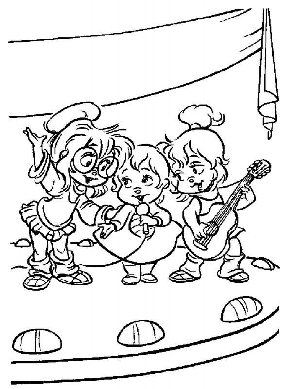 Coloriage chipmunks gratuit dessin gratuit imprimer - Coloriage gratuit a imprimer alvin et les chipmunks ...