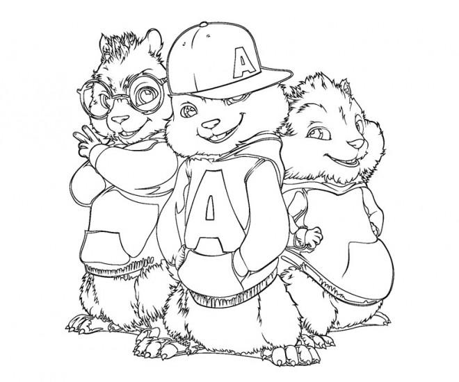 Coloriage chipmunks le film dessin gratuit imprimer - Coloriage alvin et les chipmunks simon ...