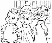 Coloriage Chipmunks quel histoire