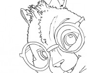 Coloriage Chipmunks Simon